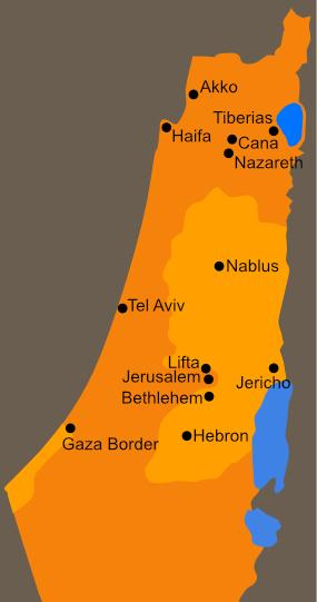Catholic Pilgrimage Map